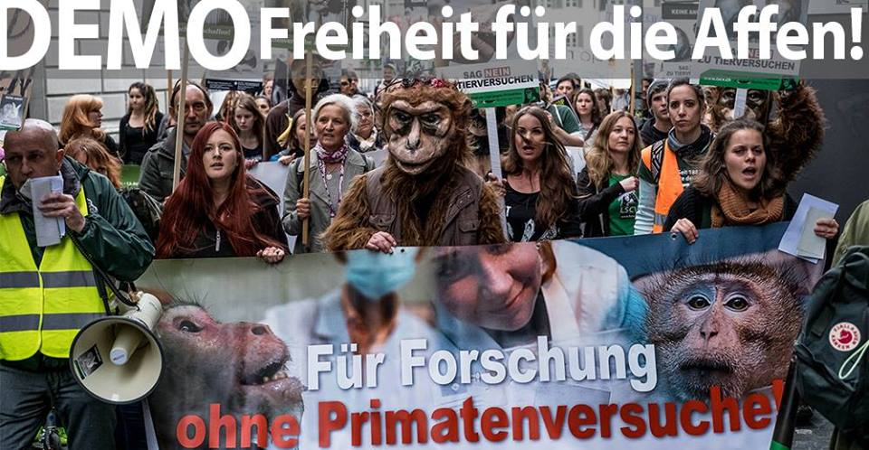 DEMO 2. September: CH-Parlament: Stoppt Primatenversuche